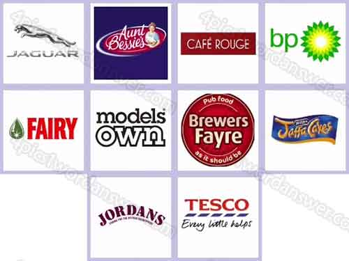 Logo Quiz Uk Brands Level 121 130 Answers 4 Pics 1 Word Daily