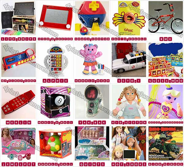 100 Pics Classic Toys Level 21 40 Answers 4 Pics 1 Word Daily