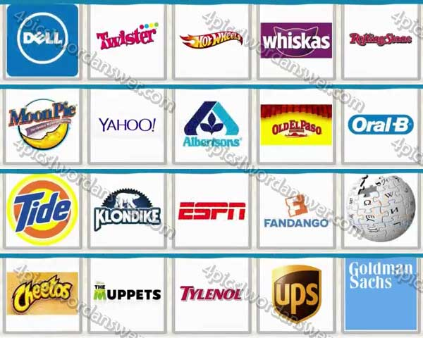 Logo Quiz USA Brands Level 101 - 120 Answers | 4 Pics 1 Word Daily