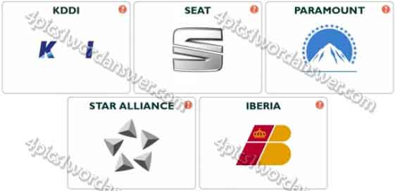 Logo Pop Logo Quiz Level 54 Answers | 4 Pics 1 Word Daily Puzzle Answers