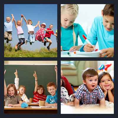 4-pics-1-word-children