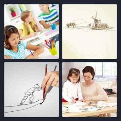 4-pics-1-word-drawing