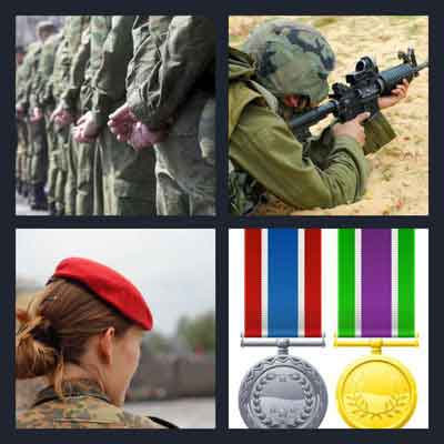 4 pics 1 word answer military | 4 pics 1 word game answers what's