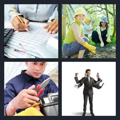 4-pics-1-word-working