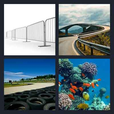 4 Pics 1 Word Answer Barrier 4 Pics 1 Word Daily Puzzle