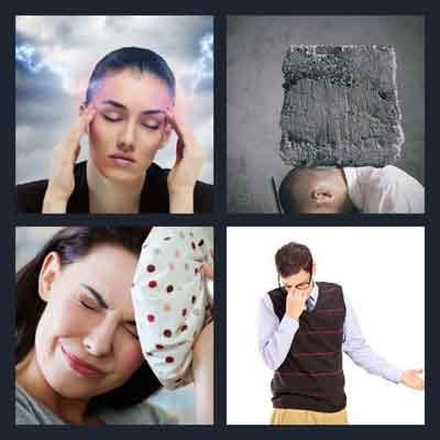 4-pics-1-word-headache