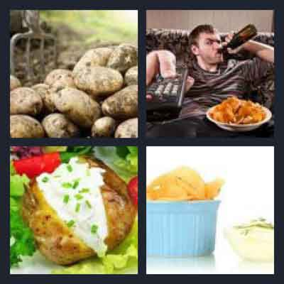 4 Pics 1 Word Answer Potato