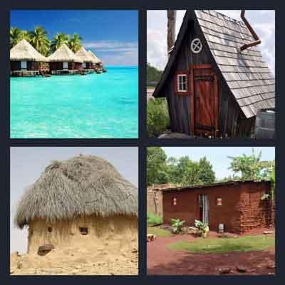 4-pics-1-word-hut