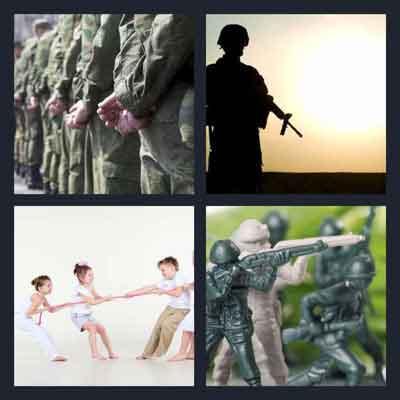 4-pics-1-word-war