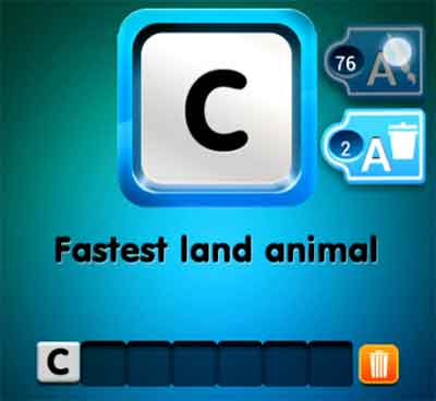one-clue-fastest-land-animal