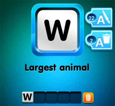 one-clue-largest-animal