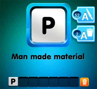 one-clue-man-made-material