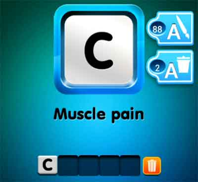 One Clue Muscle Pain 4 Pics 1 Word Daily Puzzle Answers