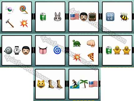 100 Emoji Quiz Level 51 60 Answers 4 Pics 1 Word Daily Puzzle Answers