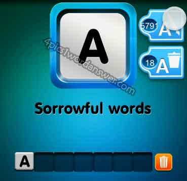 one-clue-sorrowful-words