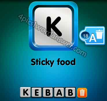 one-clue-sticky-food
