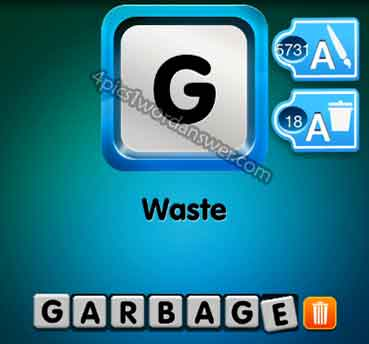 One clue waste answer 4 pics 1 word game answers whats the word emoji first letter starts with g word length 7 letters expocarfo Gallery
