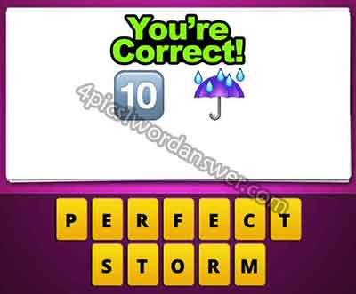 Guess The Emoji 10 And Umbrella Rain 4 Pics 1 Word Daily Puzzle Answers