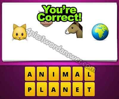 emoji-cat-cow-horse-earth-globe