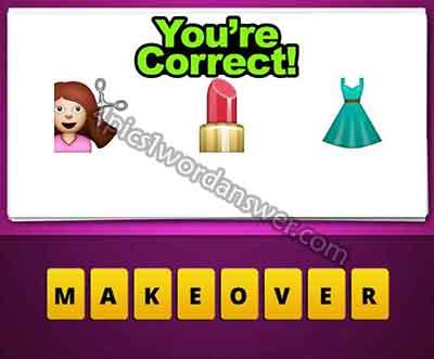 emoji-haircut-lipstick-dress