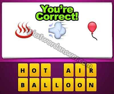 Guess The Emoji Hot Smoke Balloon | 4 Pics 1 Word Daily