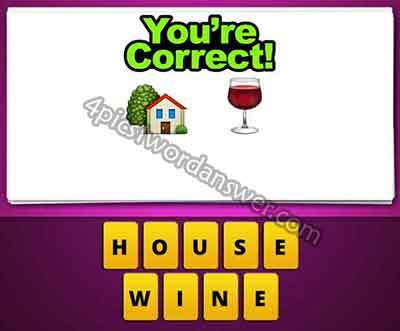 emoji-house-and-wine-glass