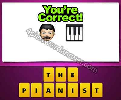 Guess The Emoji Man Face And Piano Keyboard 4 Pics 1 Word Daily Puzzle Answers