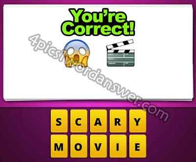 emoji-scared-face-and-movie-clapper-board