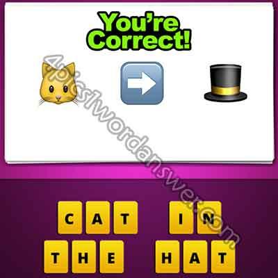 Guess The Emoji Cat Arrow Hat
