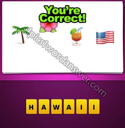 emoji-palm-tree-flower-drink-american-flag