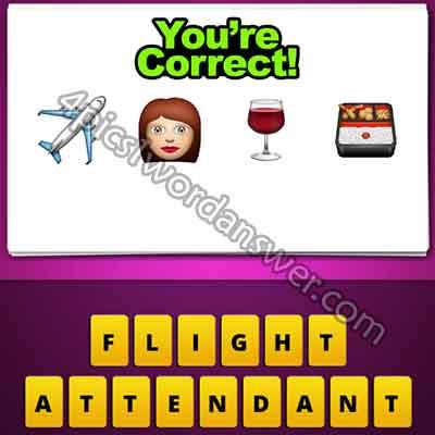 emoji-plane-woman-wine-drink-food-box