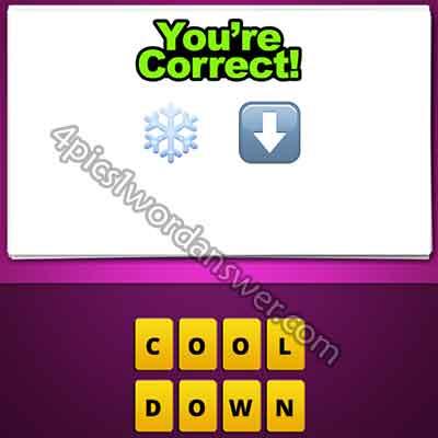 emoji-snowflake-and-down-arrow