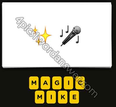 Guess The Emoji Sparkling Stars and Microphone | 4 Pics 1