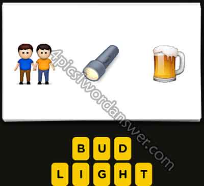 Guess The Emoji 2 Men Flashlight Beer   4 Pics 1 Word ...