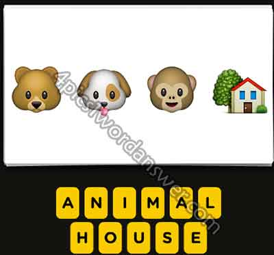 emoji-bear-dog-monkey-house