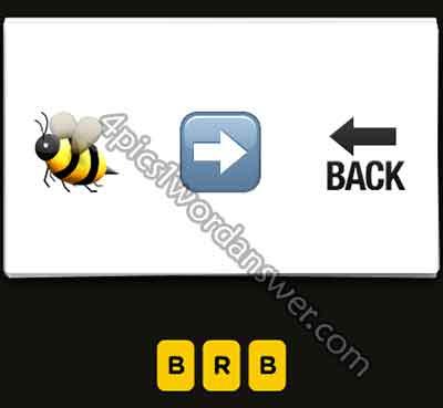 emoji-bee-right-arrow-back-arrow