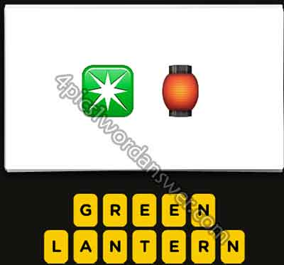 emoji-green-star-and-lantern