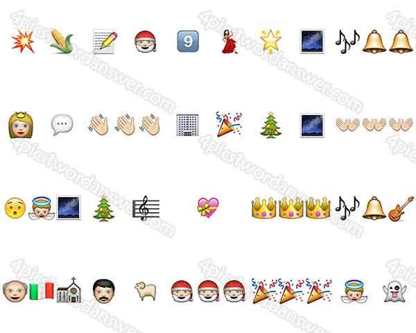 100 Pics Christmas Emoji.100 Pics Christmas Emoji Level 41 60 Answers 4 Pics 1