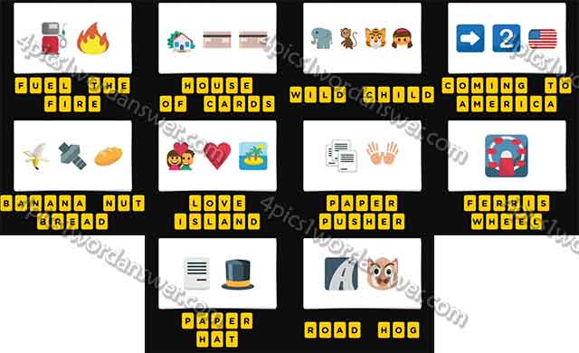 Guess The Emoji Level 124 Answers 4 Pics 1 Word Daily Puzzle Answers