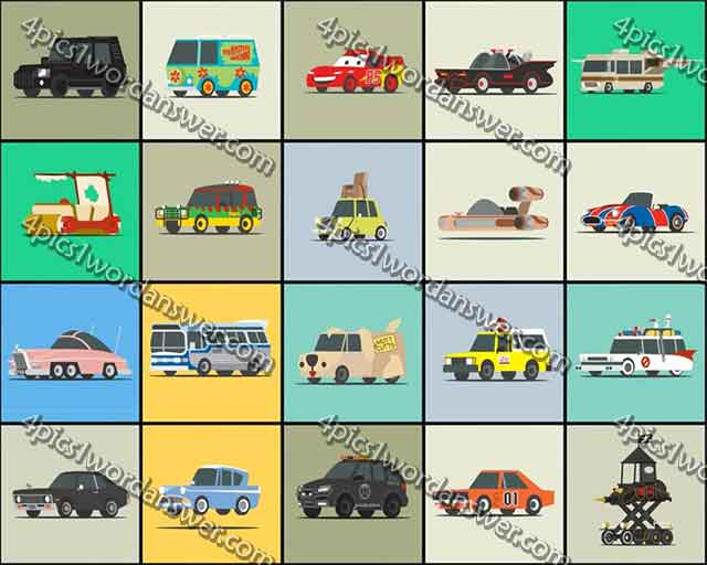 100 Pics Star Cars Answers 4 Pics 1 Word Game Answers What S The
