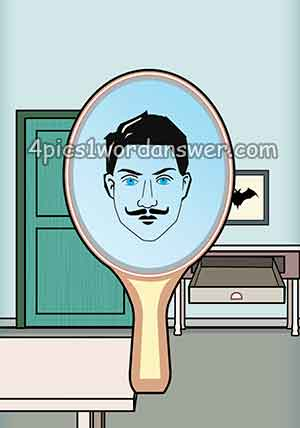 mirror-with-man-face-and-a-bat